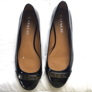 "Coach ""Oswald"" Patent Leather Black Flats"
